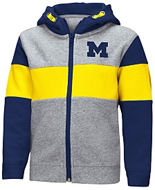 Colosseum Michigan Wolverines Colorblocked Full-Zip Sweatshirt, Toddler Boys (2T-4T)