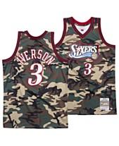 57ea3256ce3 Mitchell & Ness Men's Allen Iverson Philadelphia 76ers Woodland Camo  Swingman Jersey