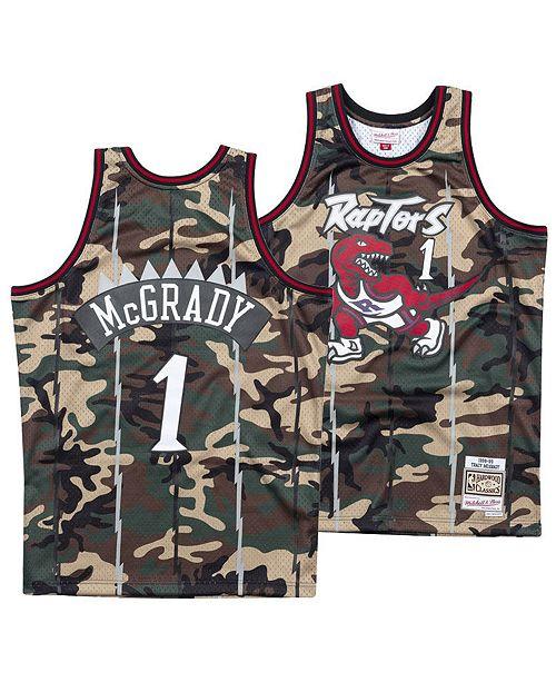 1dbcc15811e ... Mitchell   Ness Men s Tracy McGrady Toronto Raptors Woodland Camo  Swingman Jersey ...