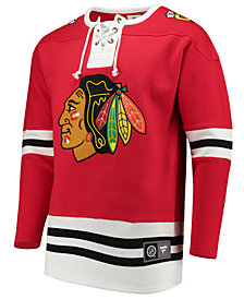 Majestic Men's Chicago Blackhawks Breakaway Lace Up Crew Sweatshirt