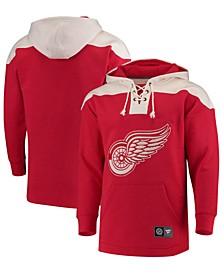 Men's Detroit Red Wings Breakaway Lace Up Hoodie