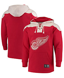 Majestic Men's Detroit Red Wings Breakaway Lace Up Hoodie