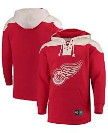 Majestic Men's Detroit Red Wings Breakaway Lace Up Hoodie