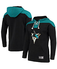 Majestic Men's San Jose Sharks Breakaway Lace Up Hoodie