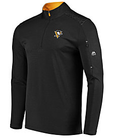 Majestic Men's Pittsburgh Penguins Ultra Streak Half-Zip Pullover