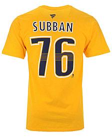 Majestic Men's PK Subban Nashville Predators Authentic Stack Name & Number T-Shirt