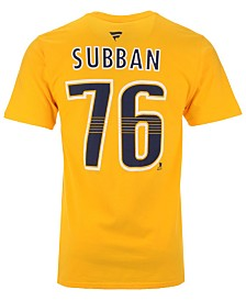 Majestic Men's PK Subban Nashville Predators Authentic Stack Name & Number T-Shirt
