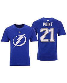 Majestic Men's Brayden Point Tampa Bay Lightning Authentic Stack Name & Number T-Shirt