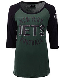 5th & Ocean Women's New York Jets Rayon Raglan T-Shirt