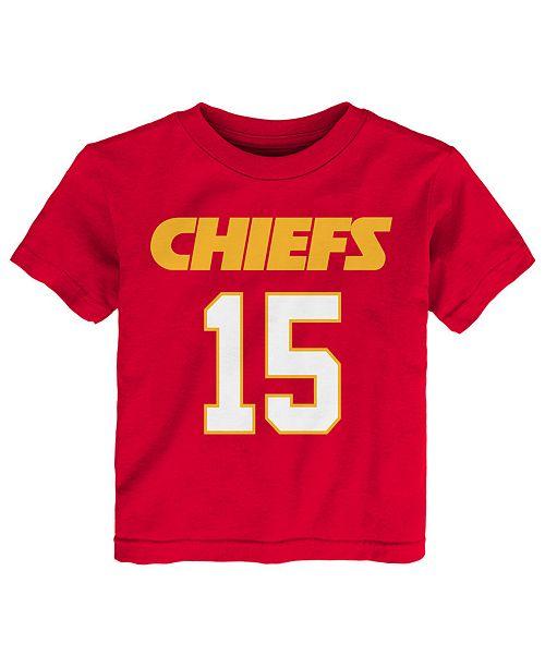 196f947a886 Outerstuff Pat Mahomes Kansas City Chiefs Mainliner Player T-Shirt, Toddler  Boys (2T ...