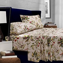 Tribeca Living Maui Floral Printed 300 Thread Count Percale Extra Deep Pocket Cal King Sheet Set