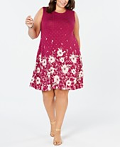 f67d20f7960 Style   Co Plus Size Floral-Print Sleeveless Dress
