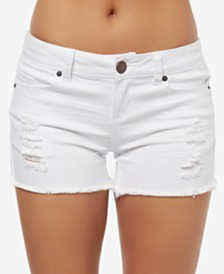 O'Neill Juniors' Cody Ripped Denim Shorts