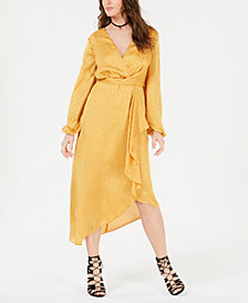 GUESS Bijou Tonal Wrap Dress