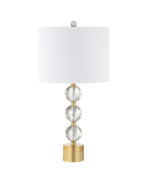 JONATHAN Y Ashley Crystal Led Table Lamp