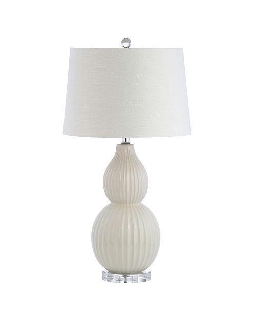 JONATHAN Y Thatcher Ceramic Led Table Lamp