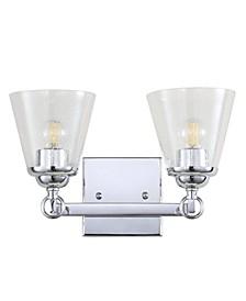 Marion 2-Light Hurricane Metal, Glass Vanity Light