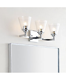 Marion 3-Light Hurricane Metal, Glass Vanity Light