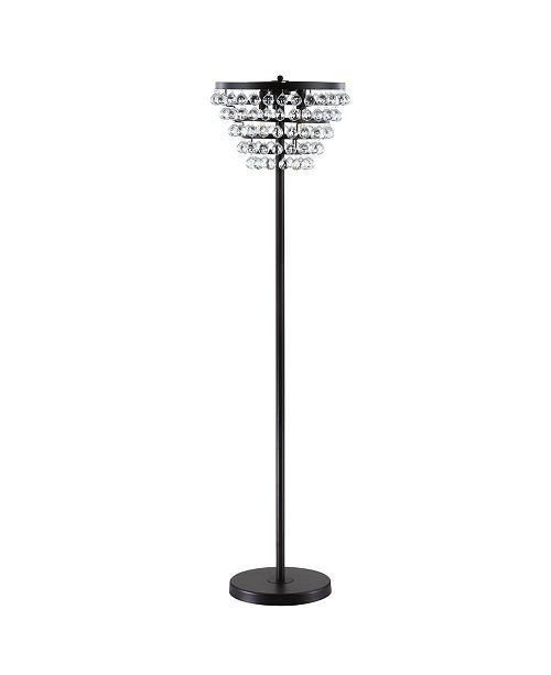 JONATHAN Y Jemma Crystal, Metal Led Floor Lamp