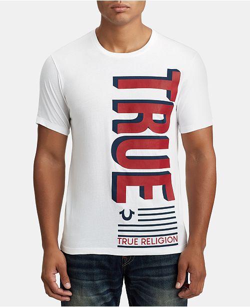 True Religion Mens Flag Graphic T-Shirt