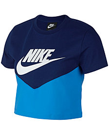 Nike Sportswear Colorblocked Cropped T-Shirt