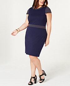 MICHAEL Michael Kors Plus Size Studded Ponte Sheath Dress