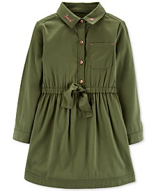 Carter's Toddler Girls Embroidered Sateen Shirtdress