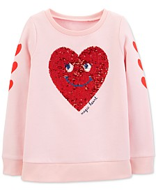 Carter's Little & Big Girls Reversible Sequin Fleece Sweatshirt