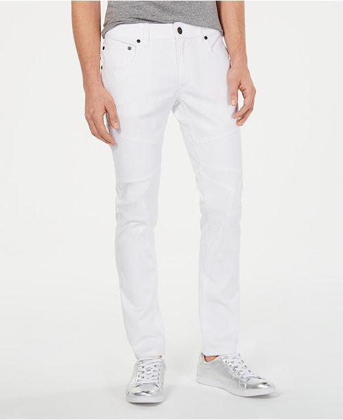 INC International Concepts I.N.C. Men's Moto Skinny-Fit Jeans, Created for Macy's
