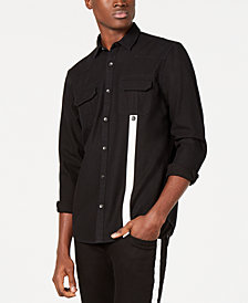 I.N.C. Men's Contrast Stripe Shirt, Created for Macy's