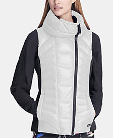 DKNY Sport Asymmetrical-Zip Vest, Created for Macy's