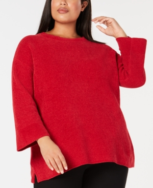 Eileen Fisher Cottons PLUS SIZE ORGANIC COTTON SWEATER
