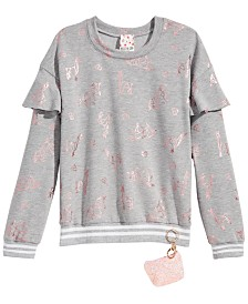 Belle Du Jour Big Girls 2-Pc. Sweatshirt & Keychain Set
