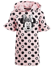 Disney Little Girls Hooded Minnie Mouse Dress