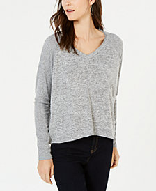 I.N.C. Ribbed-Sleeve Knit Top, Created for Macy's
