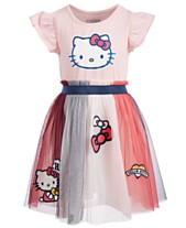 Hello Kitty Little Girls Patches Dress 0cf844cba6130