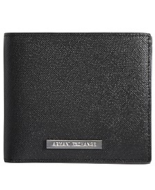 A|X Armani Exchange Men's Saffiano Leather Wallet