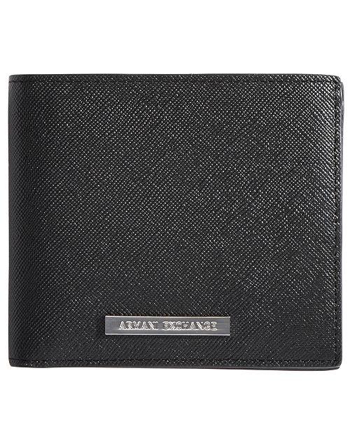 A|X Armani Exchange Men's Saffiano Leather Wallet