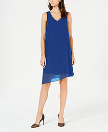 I.N.C. V-Neck Asymmetrical-Hem Sheath Dress, Created for Macy's