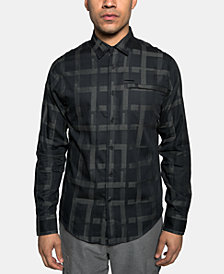 Sean John Men's Large Grid Shirt