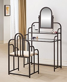 Evelyn Contemporary Metal Vanity