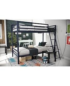 Novogratz Maxwell Twin over Twin Metal Bunk Bed
