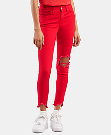 Levi's® 711 Ripped Skinny Ankle Jeans