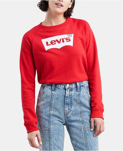 22022b21c0c Levi s Graphic-Print Fleece Sweatshirt - Tops - Juniors - Macy s