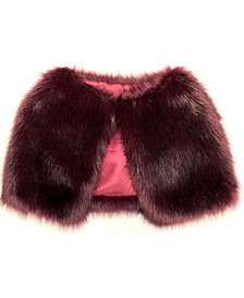 Long Hair Faux Fur Capelet