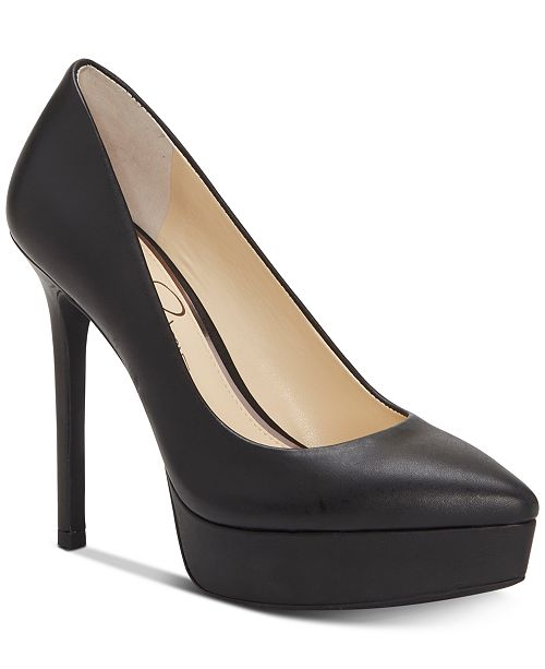 9a432757e04 Jessica Simpson Lael Pointed-Toe Platform Pumps   Reviews - Pumps ...