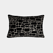 Edie@Home Precious Metals Collection Printed Faux Fur Pillow