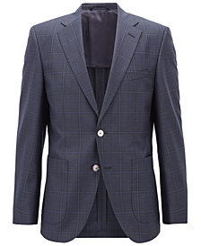 BOSS Men's Regular/Classic-Fit Checked Virgin Wool Jacket