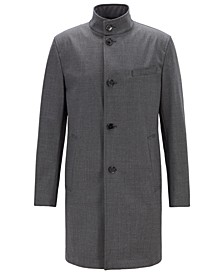 BOSS Men's Slim Fit Stand-Collar Coat