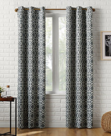 "Sun Zero Barnett Trellis Blackout Grommet Curtain Panel, 40"" W x 63"" L"